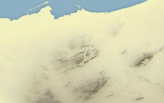 Fond de plan du désert du Sinaï (extrait) - Guillaume Sciaux - Cartographe professionnel