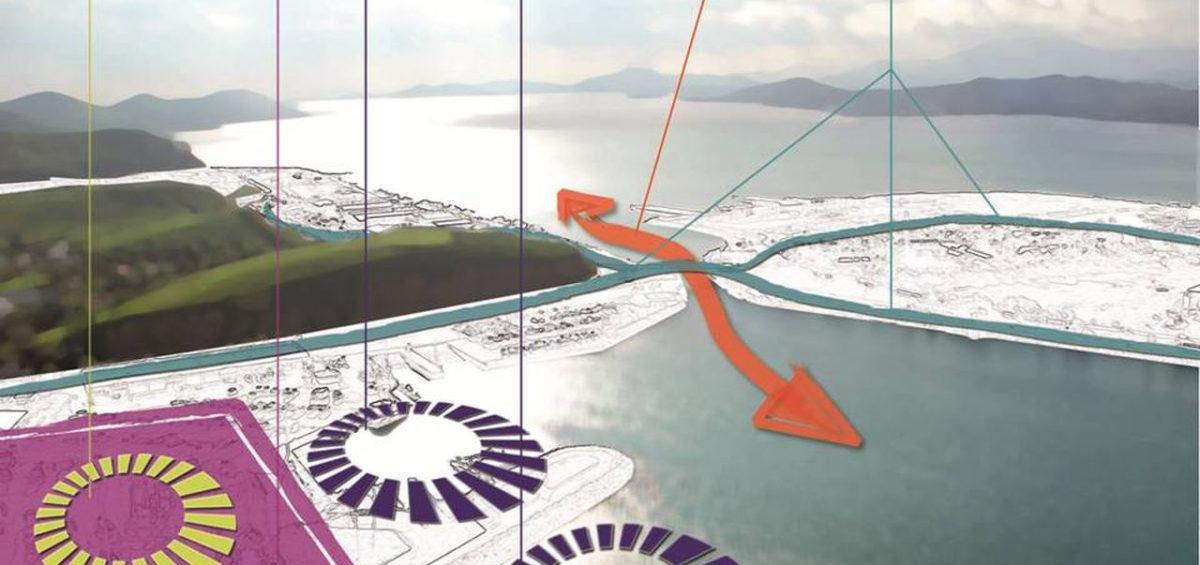 Schéma conceptuel de l'aménagement de la zone ouest du port de Nouméa - Guillaume Sciaux - Cartographe professionnel