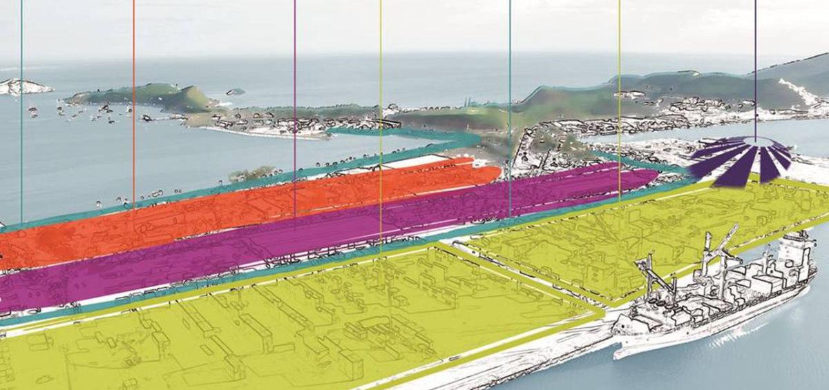 Schéma conceptuel d'organisation du port de Nouméa - Guillaume Sciaux - Cartographe professionnel