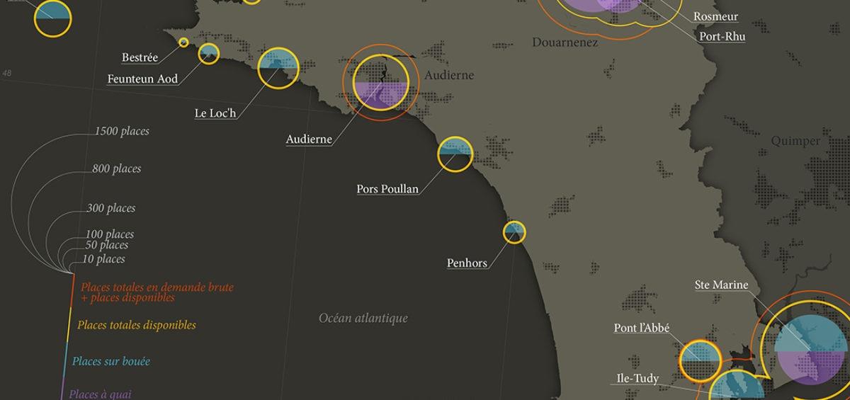 Cartographe - Carte de la plaisance en Cornouaille - Guillaume Sciaux - Cartographe professionnel