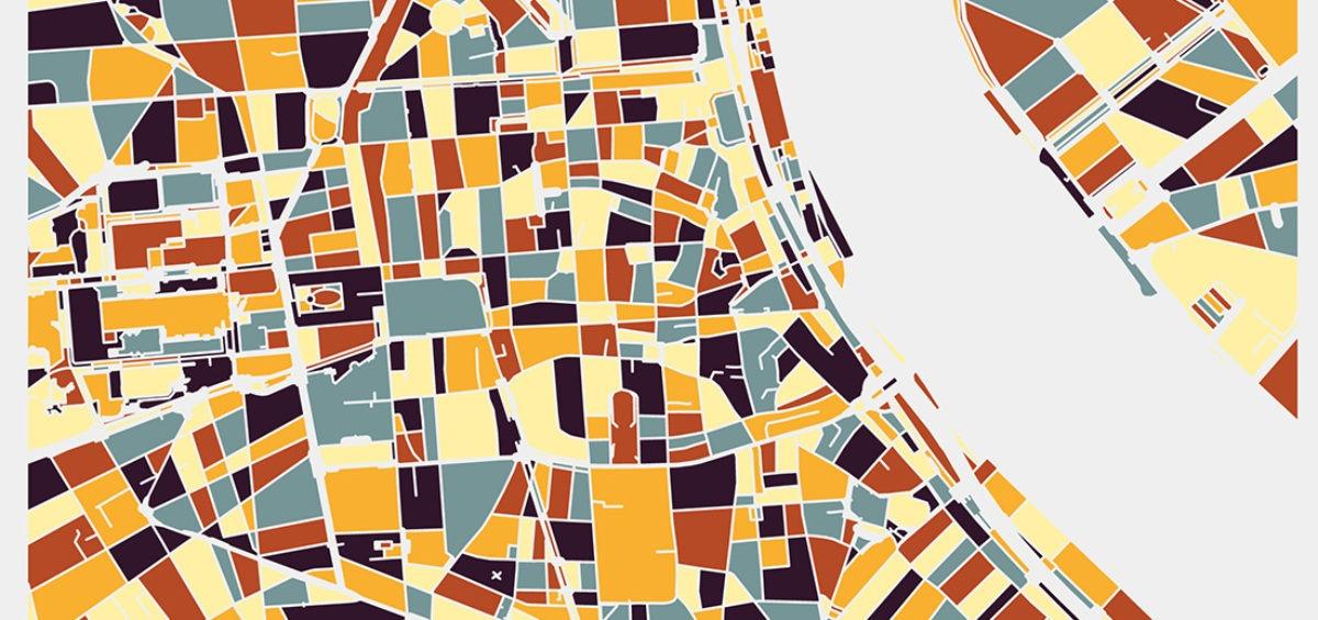 Carte minimaliste de Bordeaux - Guillaume Sciaux - Cartographe professionnel