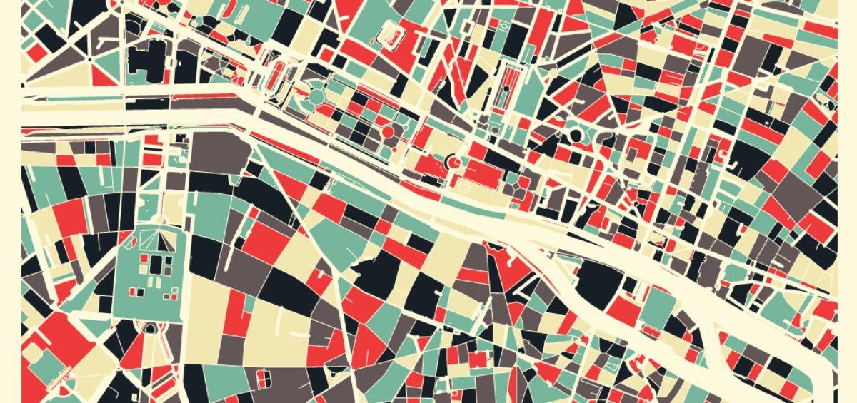 Carte minimaliste de Paris - Guillaume Sciaux - Cartographe professionnel