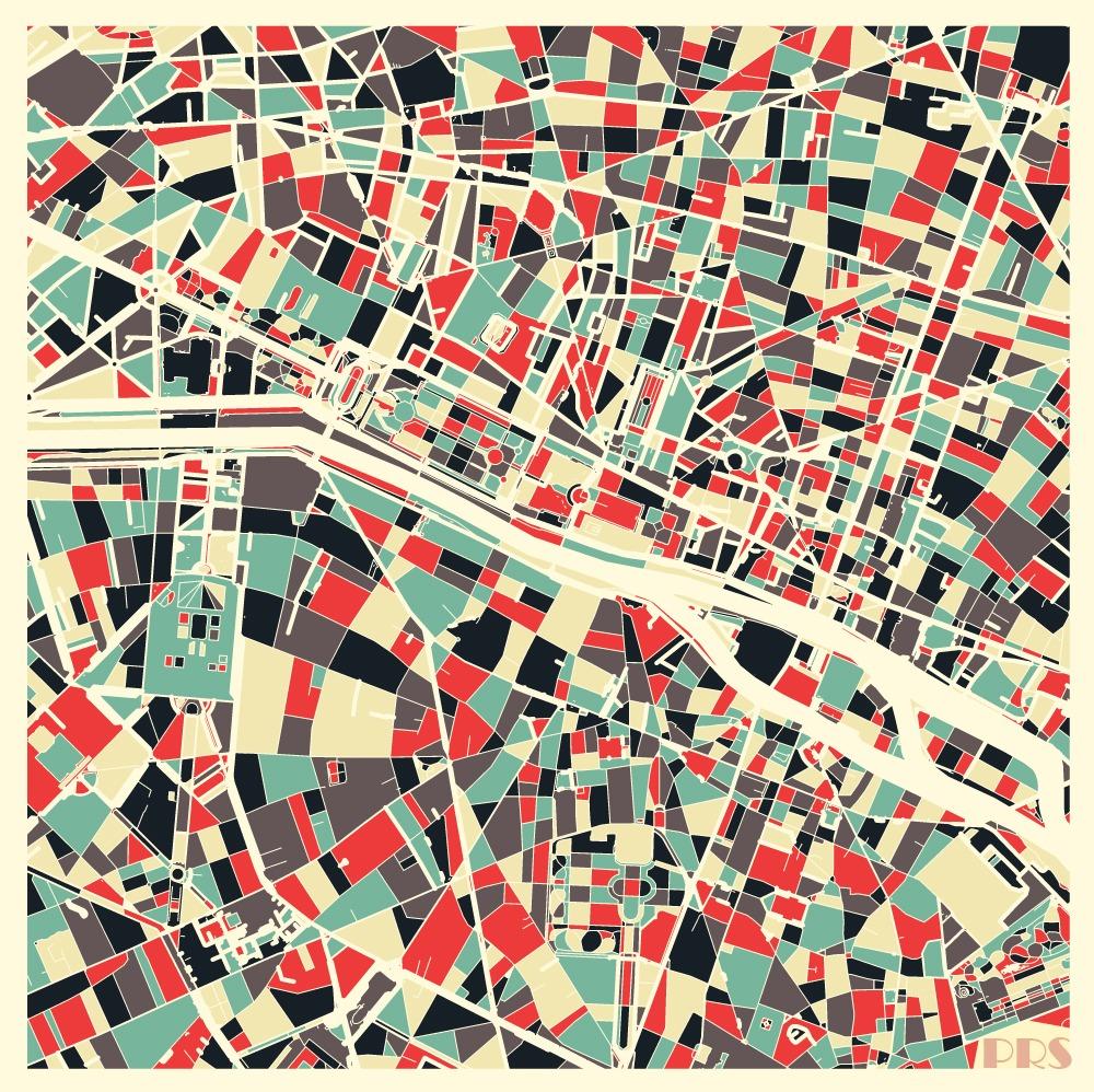 cartes urbaines minimalistes pacha cartographie. Black Bedroom Furniture Sets. Home Design Ideas