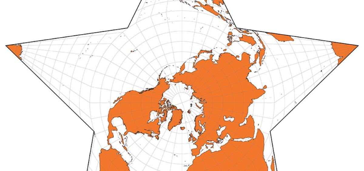 Projection cartographique Berghaus-star - Guillaume Sciaux - Cartographe professionnel