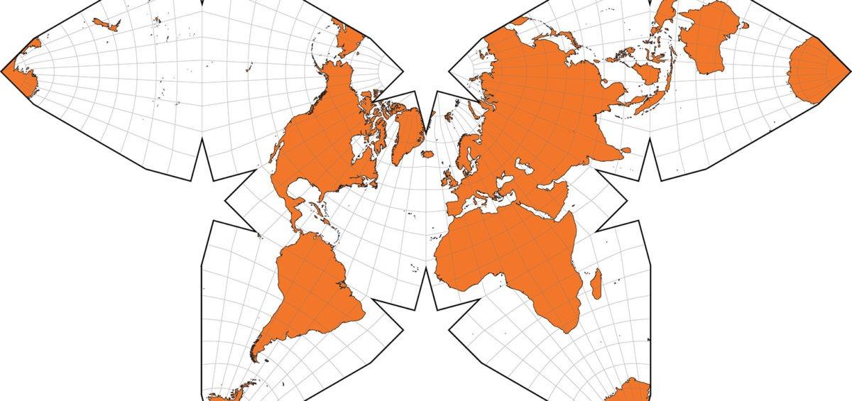 Projection cartographique Butterfly de Waterman - Guillaume Sciaux - Cartographe professionnel