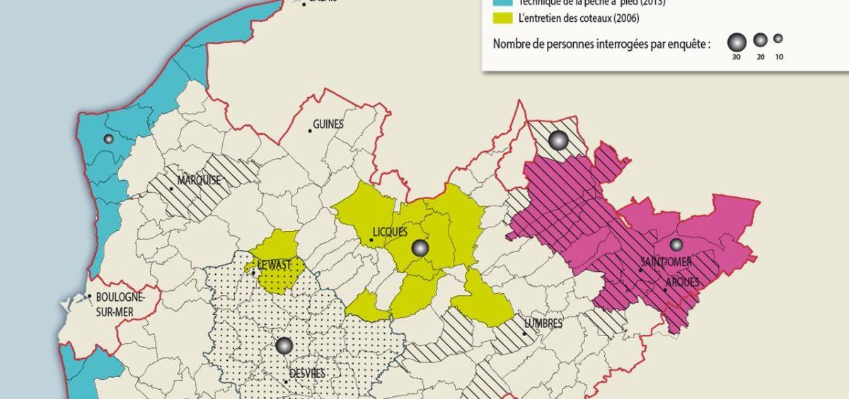 PNR Cote d'Opale Enquêtes ethno-sociologiques - Guillaume Sciaux - Cartographe professionnel
