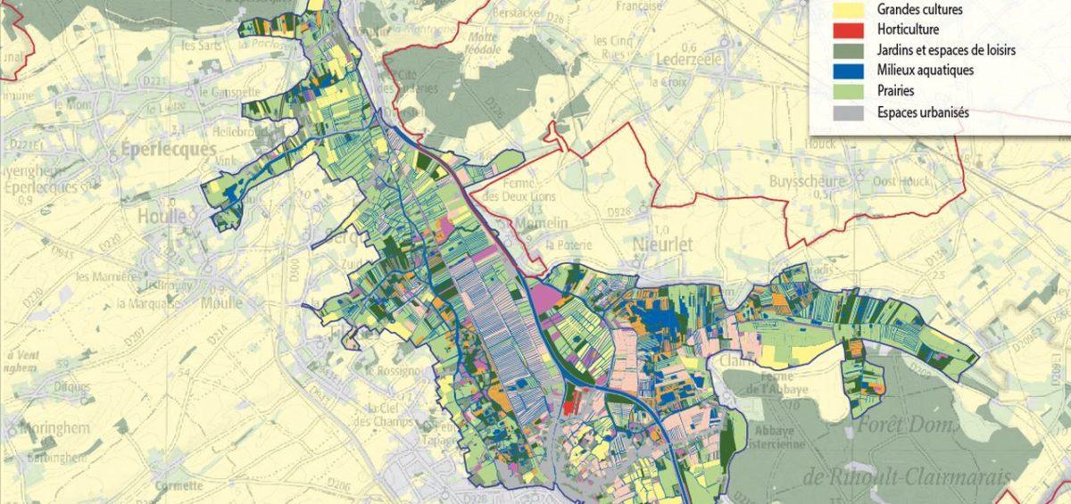 PNR Cote d'Opale - Occupation du sol Marais Audomarois - Guillaume Sciaux - Cartographe professionnel