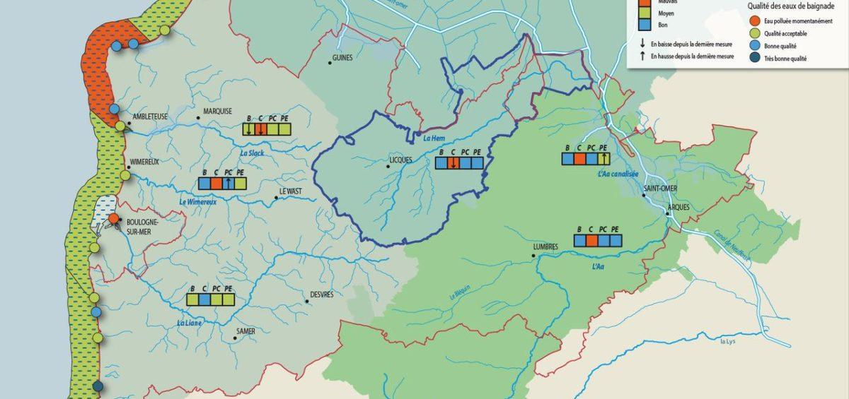 PNR Cote d'Opale - Structures et qualité de l'eau - Guillaume Sciaux - Cartographe professionnel