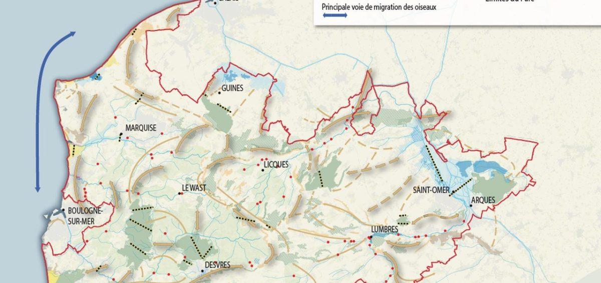 PNR Cote d'Opale - Trame verte et bleue - Guillaume Sciaux - Cartographe professionnel