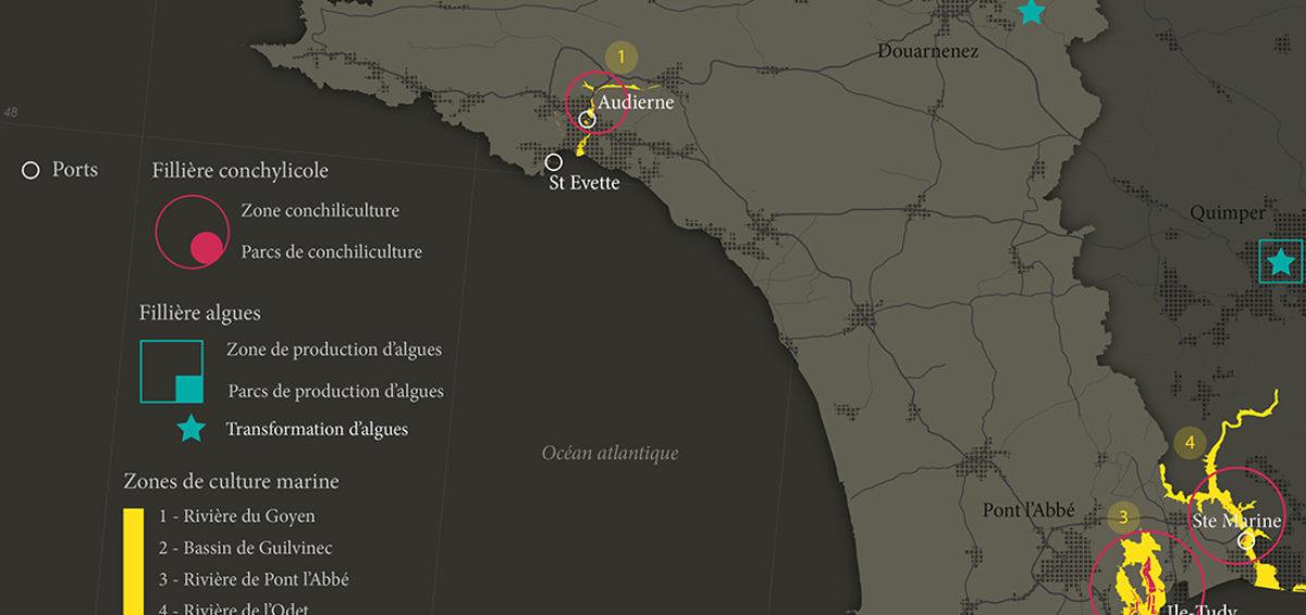 Cornouaille - Conchiliculture - Guillaume Sciaux - Cartographe professionnel
