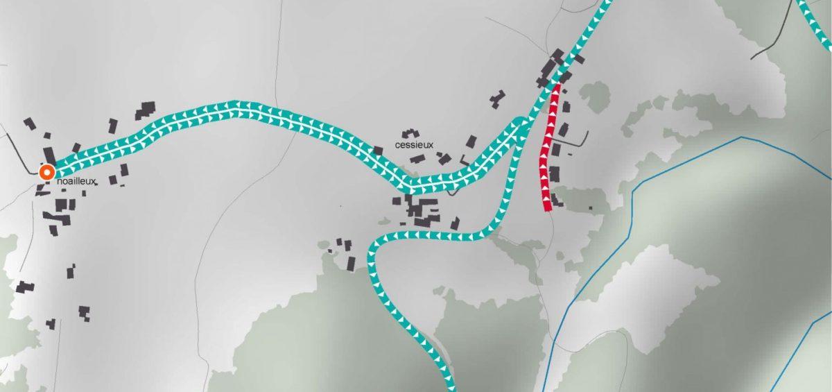 Carte des tournée ramassage ordures ménagères 3 - Guillaume Sciaux - Cartographe professionnel