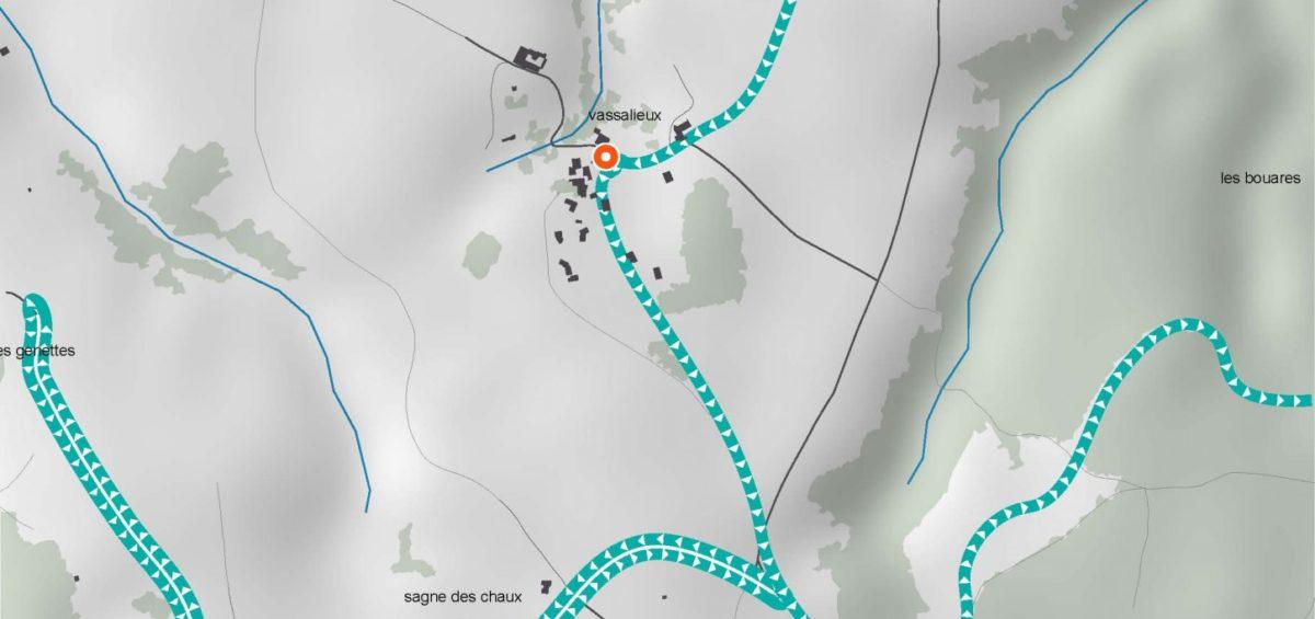 Carte des tournée ramassage ordures ménagères 2 - Guillaume Sciaux - Cartographe professionnel