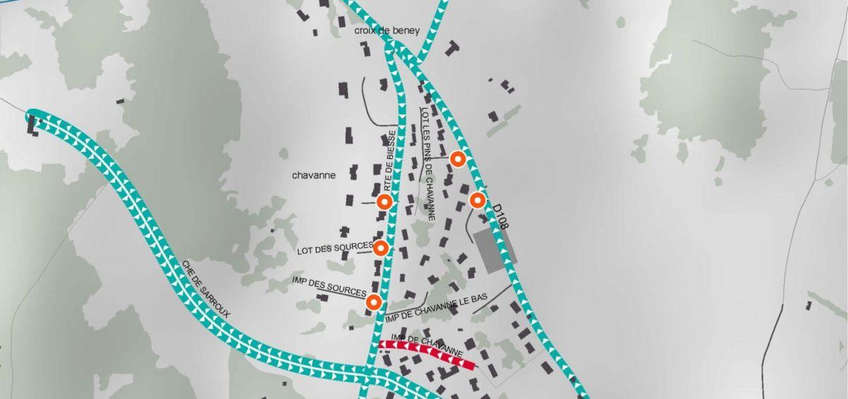 Carte des tournée ramassage ordures ménagères - Guillaume Sciaux - Cartographe professionnel