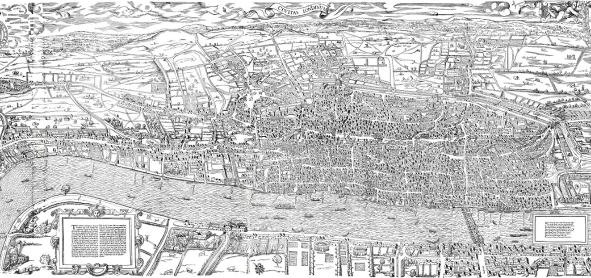 Londres Agas carte - Guillaume Sciaux - Cartographe professionnel