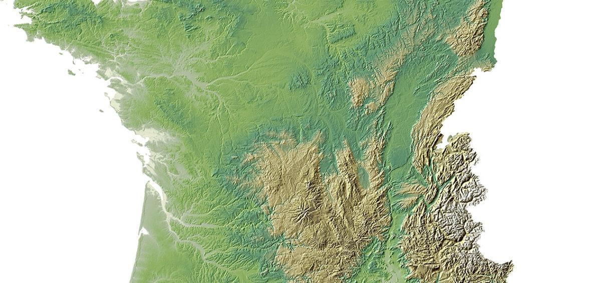 France relief 1 SD - Guillaume Sciaux - Cartographe professionnel