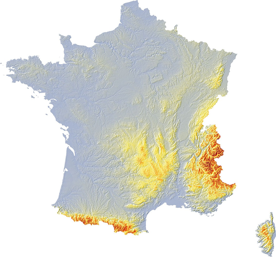 Fonds de carte France - Les limites administratives - Pacha cartographie