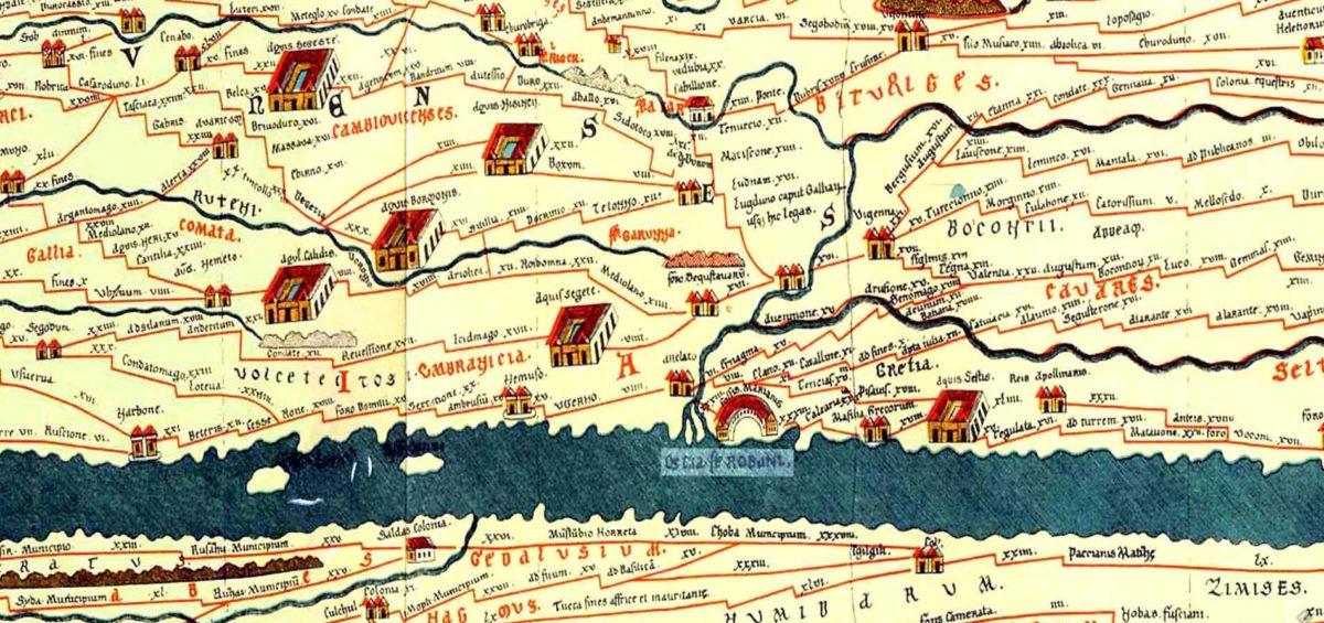 Carte de Peutinger - Guillaume Sciaux - Cartographe professionnel