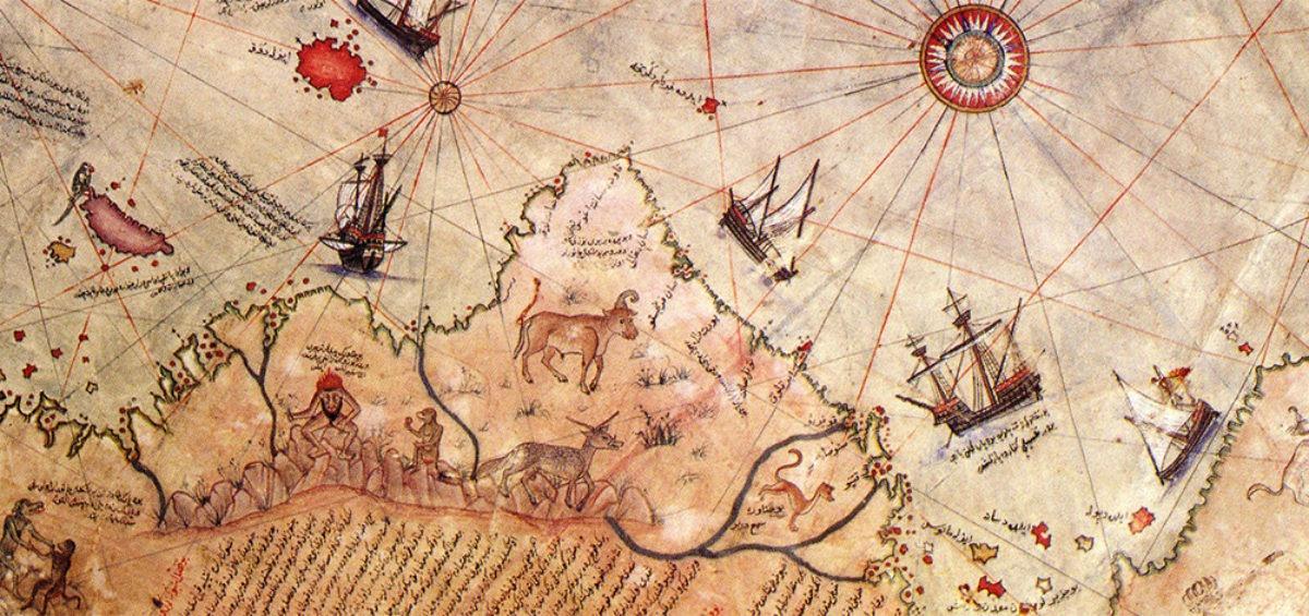 Piri Reis extrait - Guillaume Sciaux - Cartographe professionnel