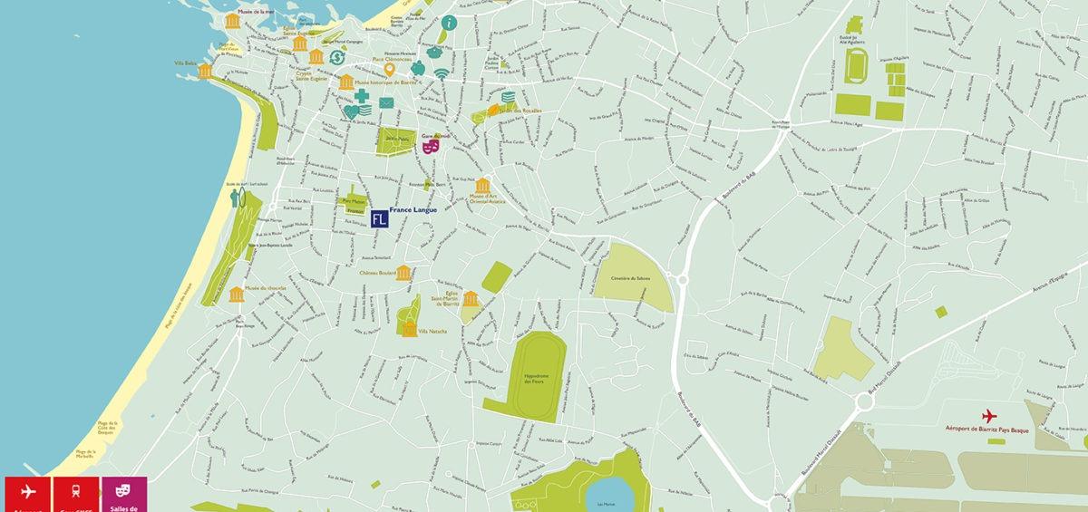 Plan de Biarritz - Guillaume Sciaux - Cartographe professionnel