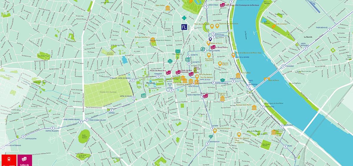 Plan de Bordeaux - Guillaume Sciaux - Cartographe professionnel