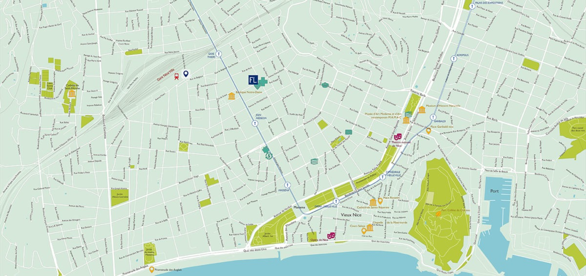 Plan de Nice - Guillaume Sciaux - Cartographe professionnel