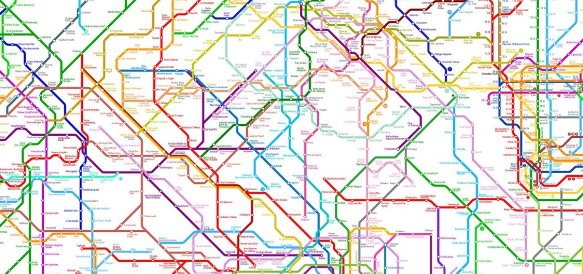 World metro map - Guillaume Sciaux - Cartographe professionnel