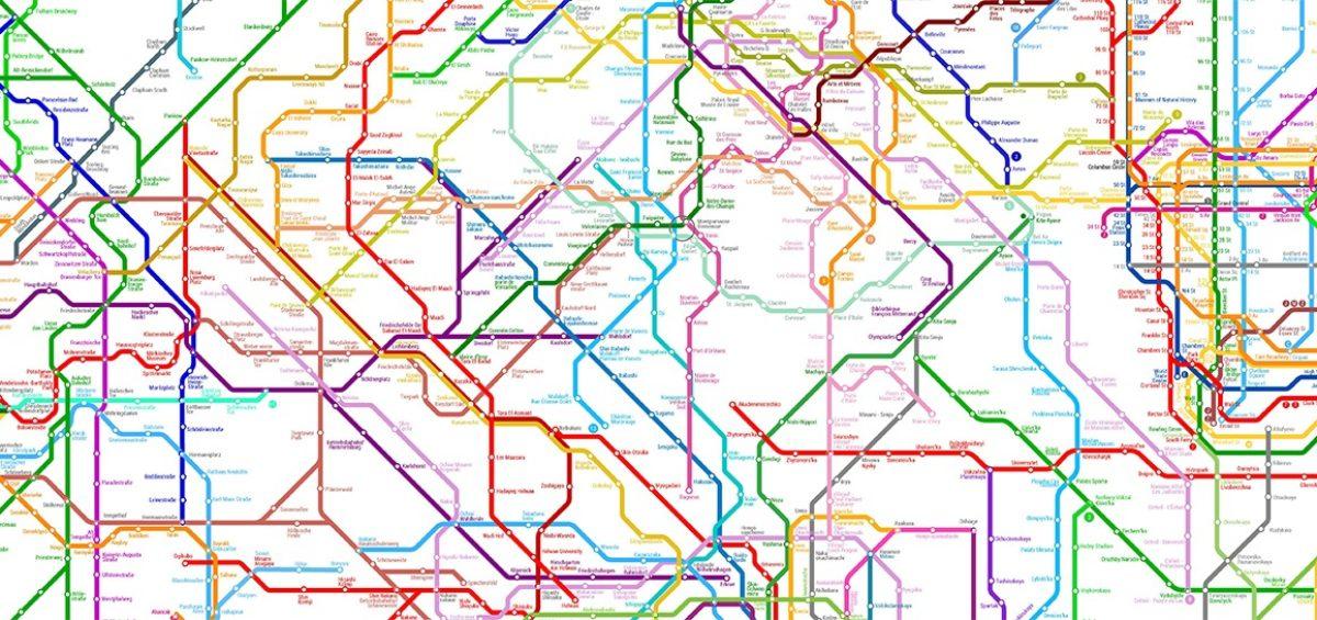 World metro map - Guillaume Sciaux - Cartographe professionnel