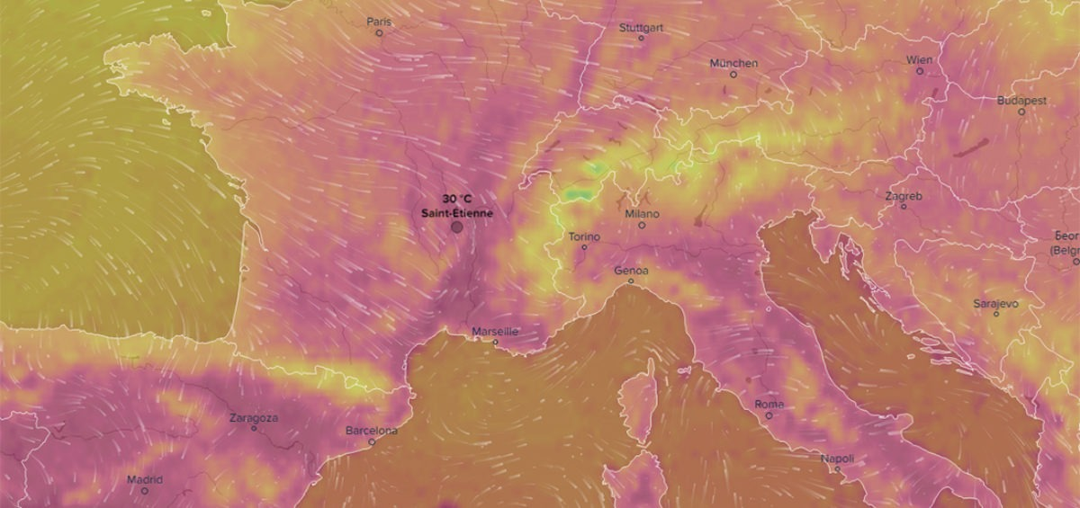 Carte météorologique - Guillaume Sciaux - Cartographe professionnel