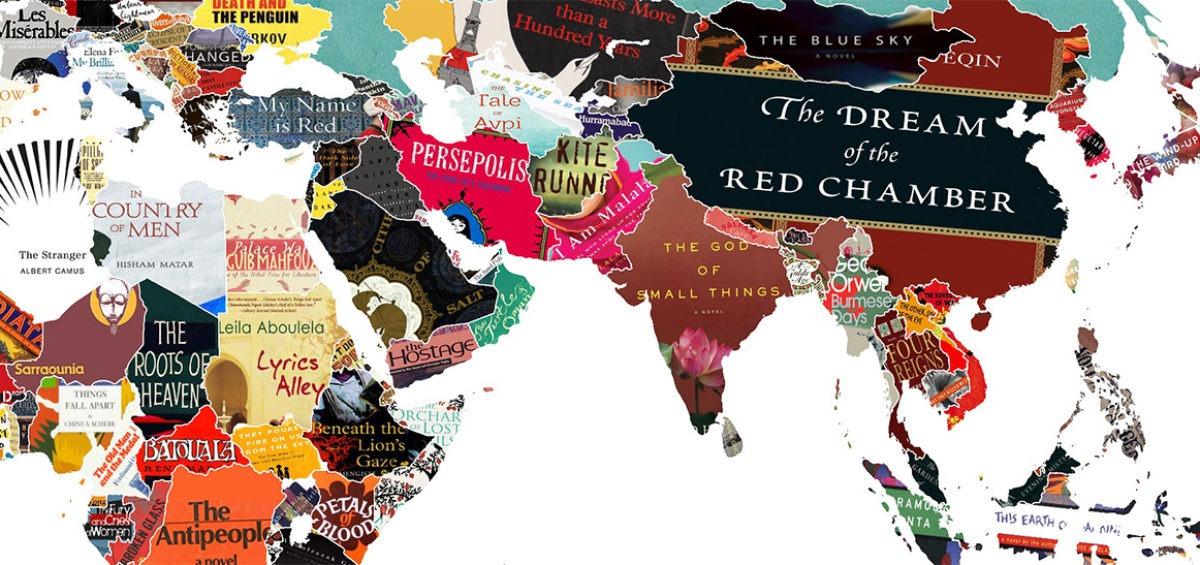 Carte des livres du monde - Guillaume Sciaux - Cartographe professionnel