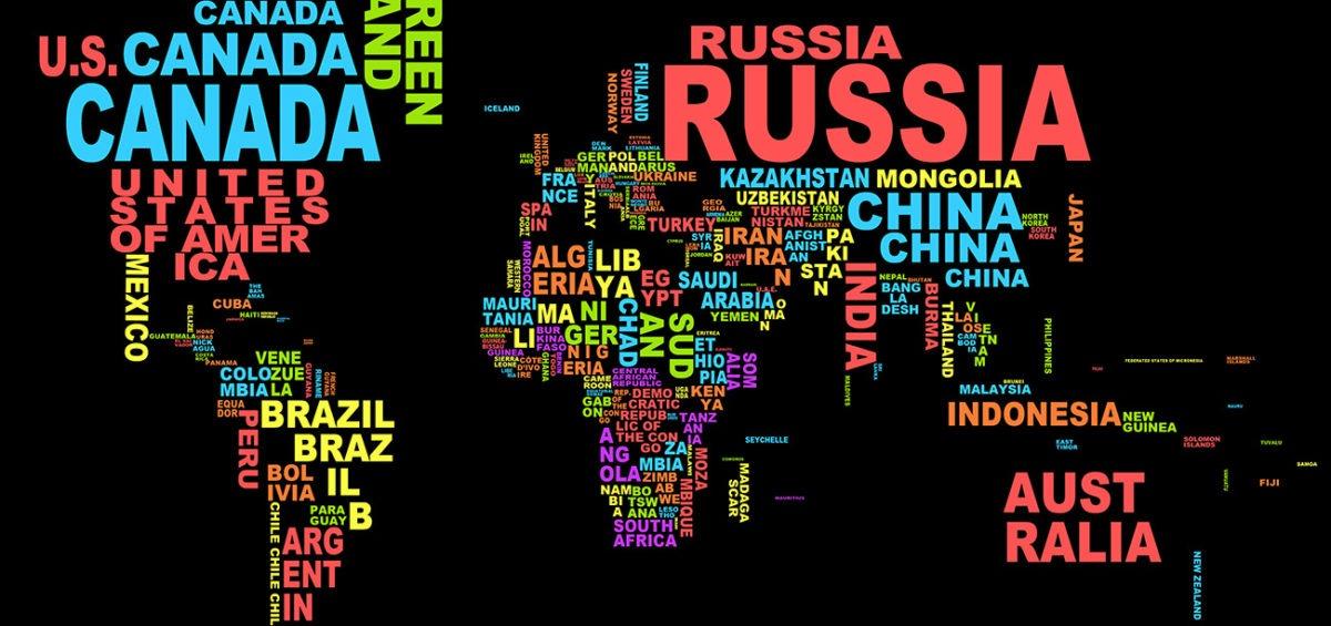 Noms des pays du monde - Guillaume Sciaux - Cartographe professionnel