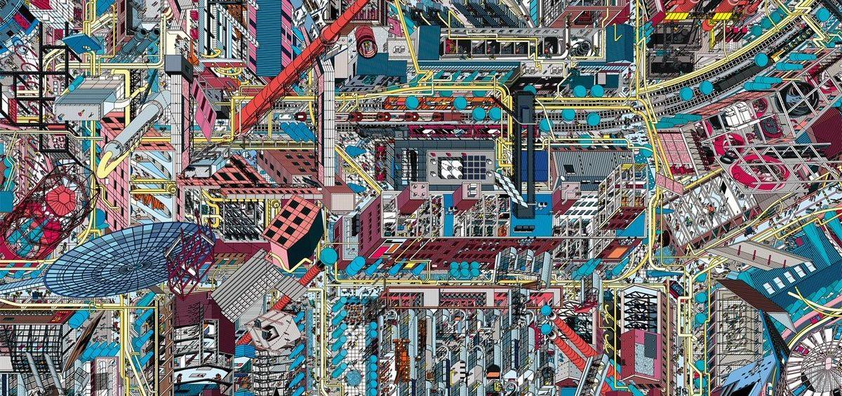 Villes chinoises perspective 7 - Guillaume Sciaux - Cartographe professionnel