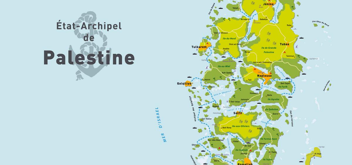 Archipel de Palestine - Guillaume Sciaux - Cartographe professionnel