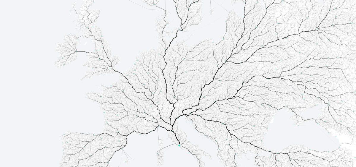 Routes qui mènent à Rome - Guillaume Sciaux - Cartographe professionnel