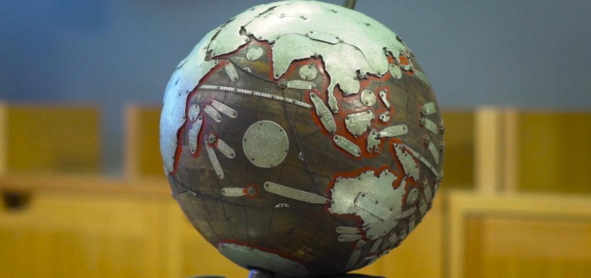 Globe braille Tunley 2 - Guillaume Sciaux - Cartographe professionnel