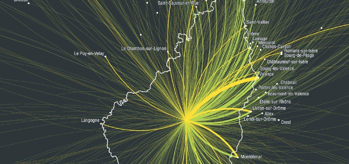 Ardeche - Flux externes domicile - Guillaume Sciaux - Cartographe professionnel