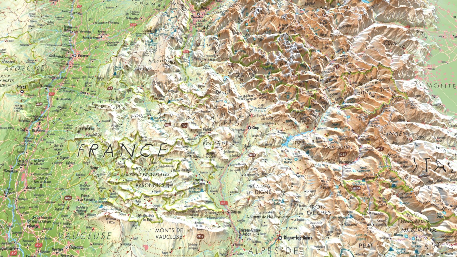 3DMap - Alpes - Guillaume Sciaux - Cartographe professionnel