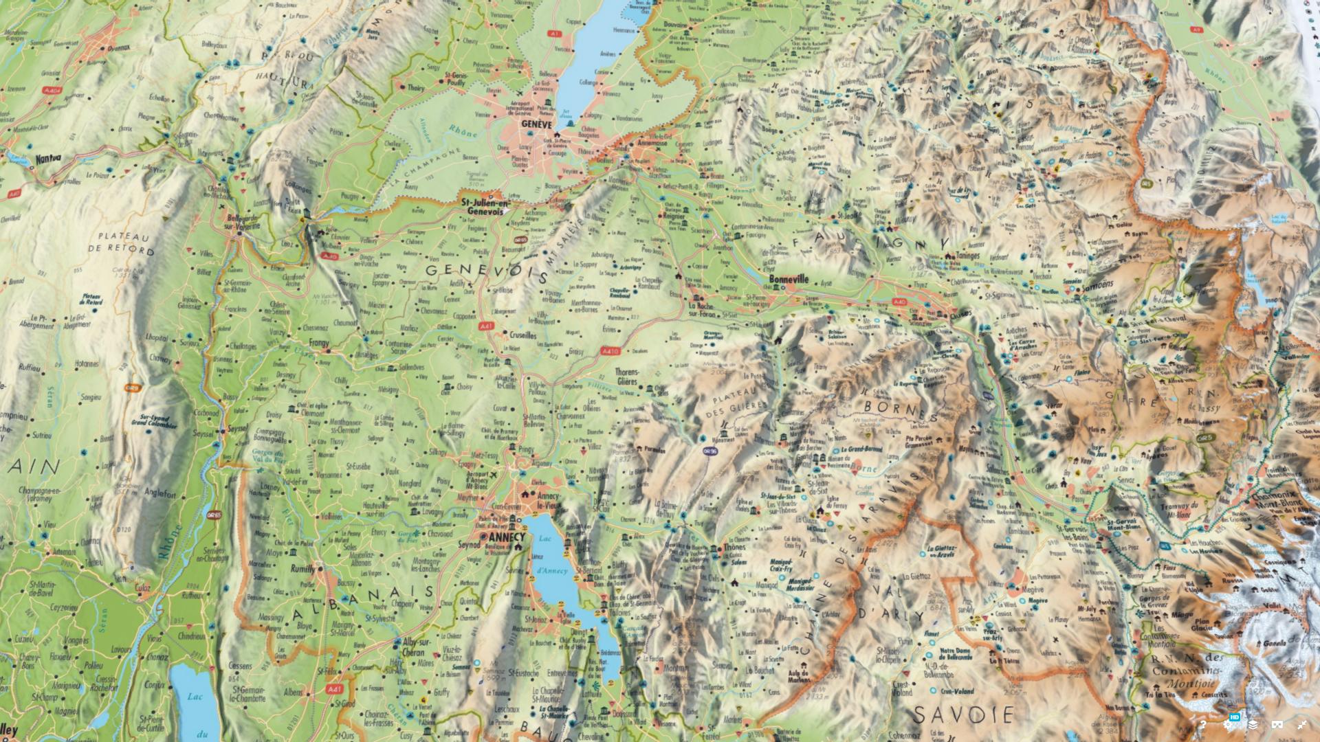 3DMap - La Haute Savoie - Guillaume Sciaux - Cartographe professionnel